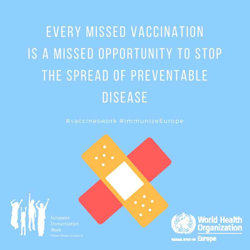 Posterausstellung zum Thema Impfen anlässlich der 13. Europäischen Impfwoche