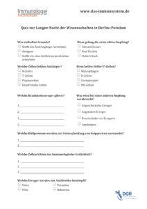 Quiz zu den Infopostern